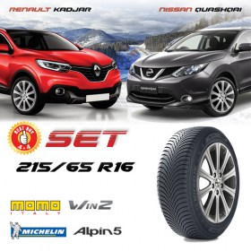 QUASHQAI KADJAR DUSTER 215 65 R16 MICHELIN WIN2 280x280
