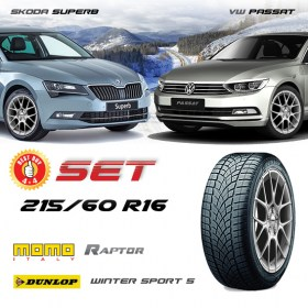 SUPERB-PASSAT-215-60-R16-DUNLOP-RAPTOR